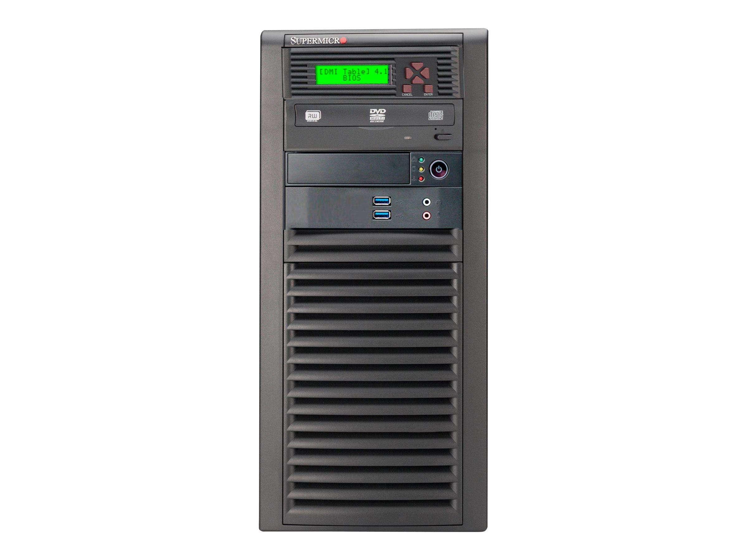 Supermicro SC732 D3-903B - Tower - Erweitertes ATX 900 Watt - Schwarz - USB/Audio