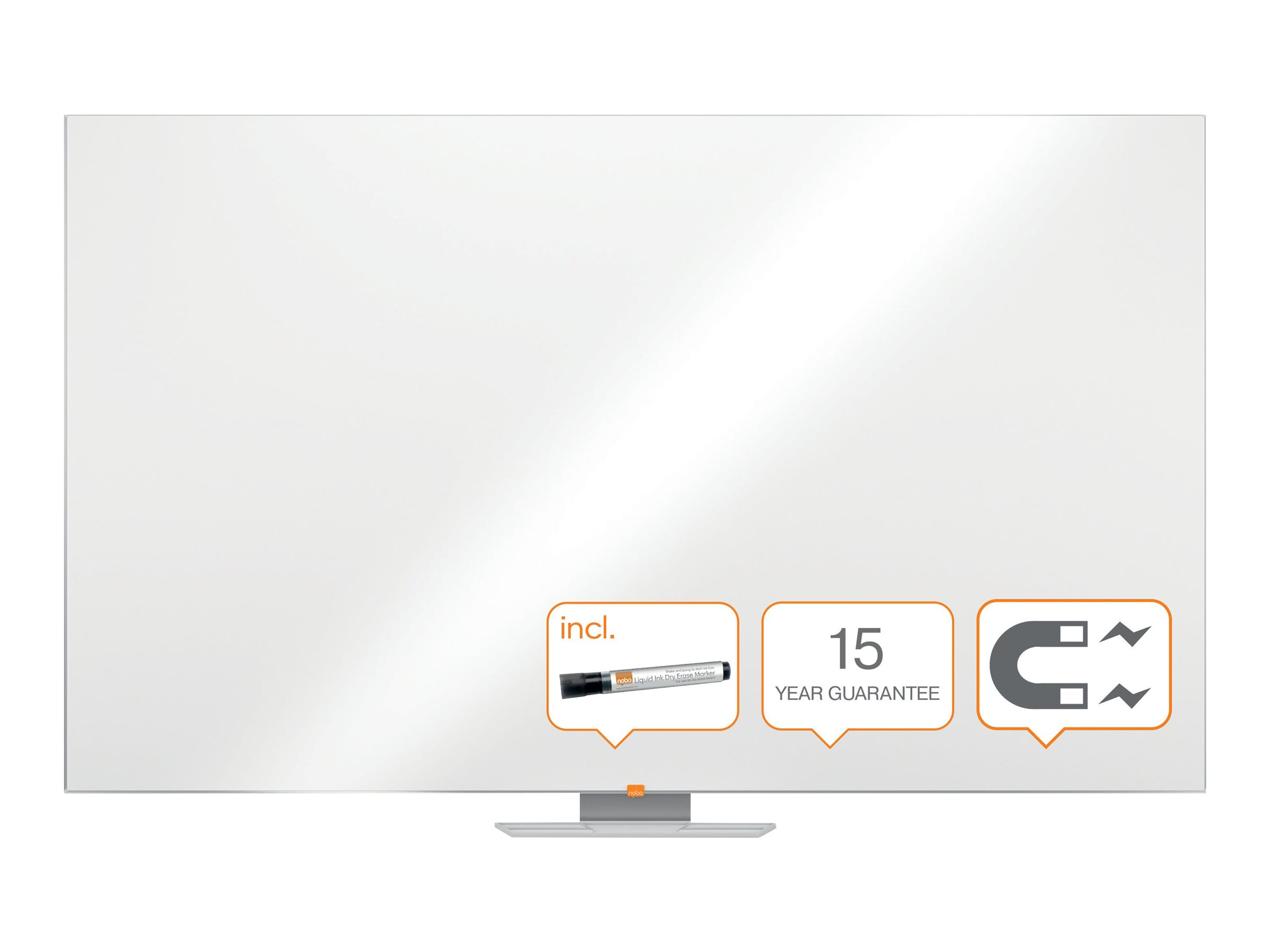 Nobo Classic - Whiteboard - geeignet für Wandmontage - 2100 x 1200 mm - Lackierter Stahl - magnetisch