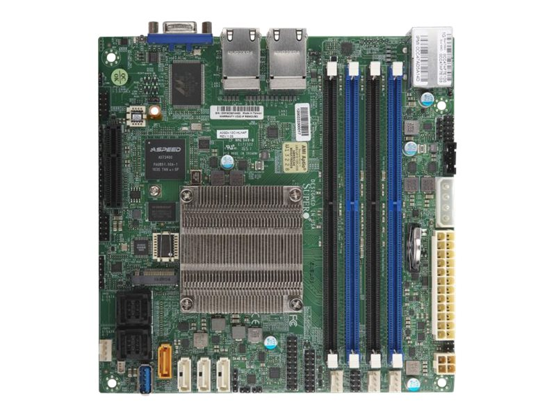 SUPERMICRO A2SDi-16C-HLN4F - Motherboard - Mini-ITX - Intel Atom C3955 - USB 3.0 - 4 x Gigabit LAN