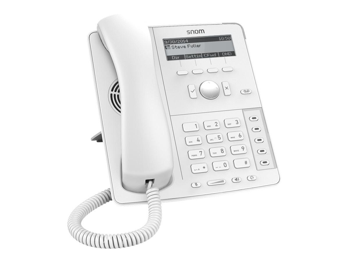 snom D715 - VoIP-Telefon - dreiweg Anruffunktion - SIP, RTCP, SRTP - 4 Leitungen - weiss