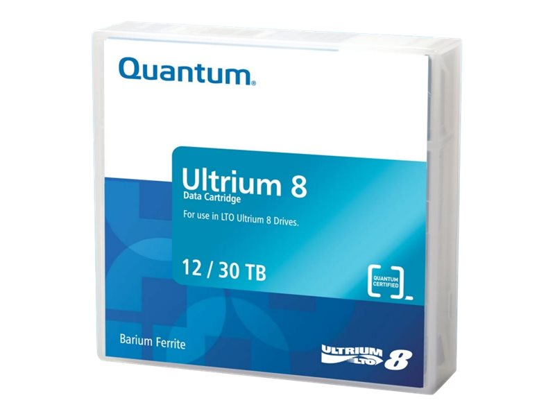 Quantum - LTO Ultrium 8 - 12 TB / 30 TB - Mit Strichcodeetikett - Brick Red
