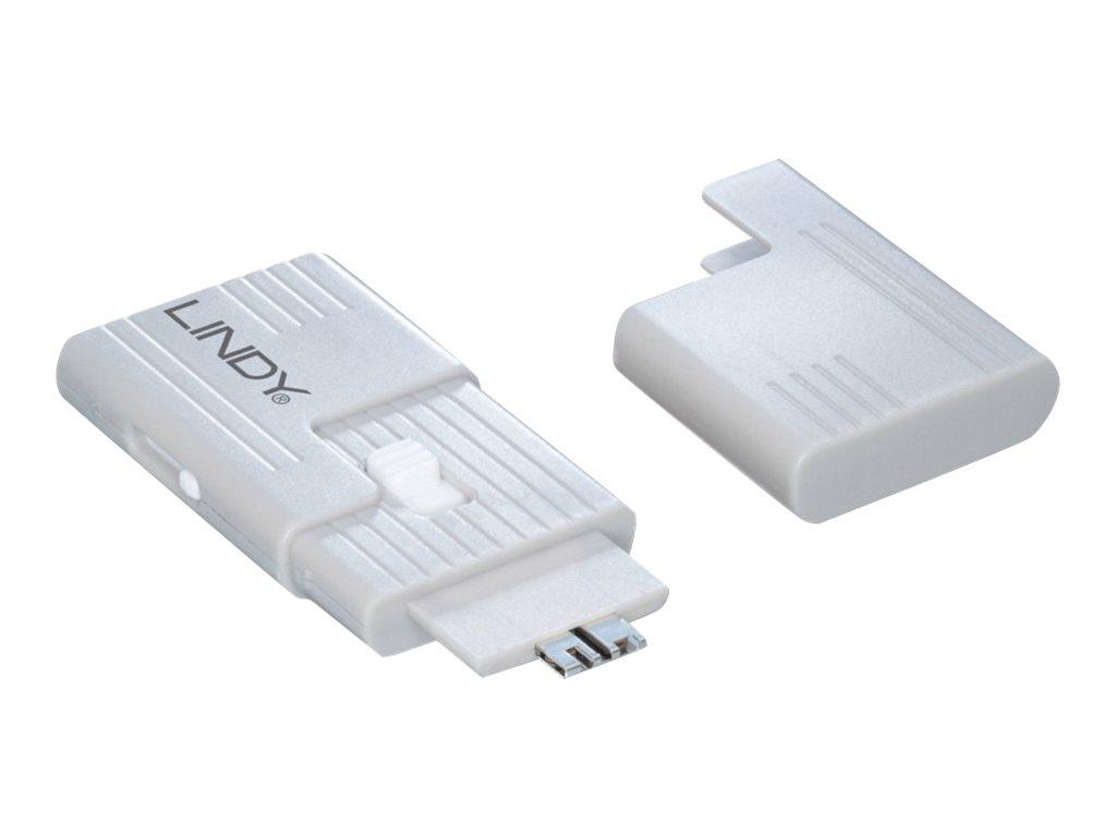 Lindy SD Port Blocker - SD port blocker (Packung mit 4)