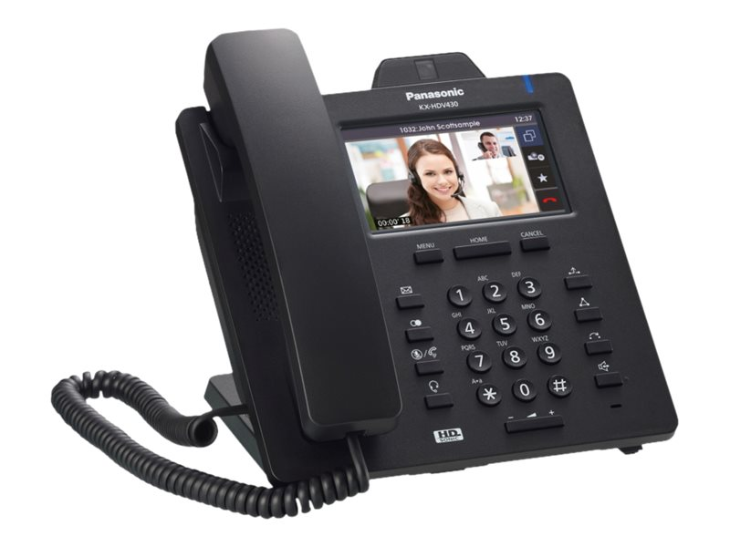 Panasonic KX-HDV430 - IP-Videotelefon - Bluetooth-Schnittstelle - SIP - 16 Zeilen - Schwarz