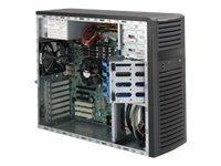 Supermicro SC732 D4-500B - Tower - Erweitertes ATX 500 Watt - Schwarz - USB/Audio