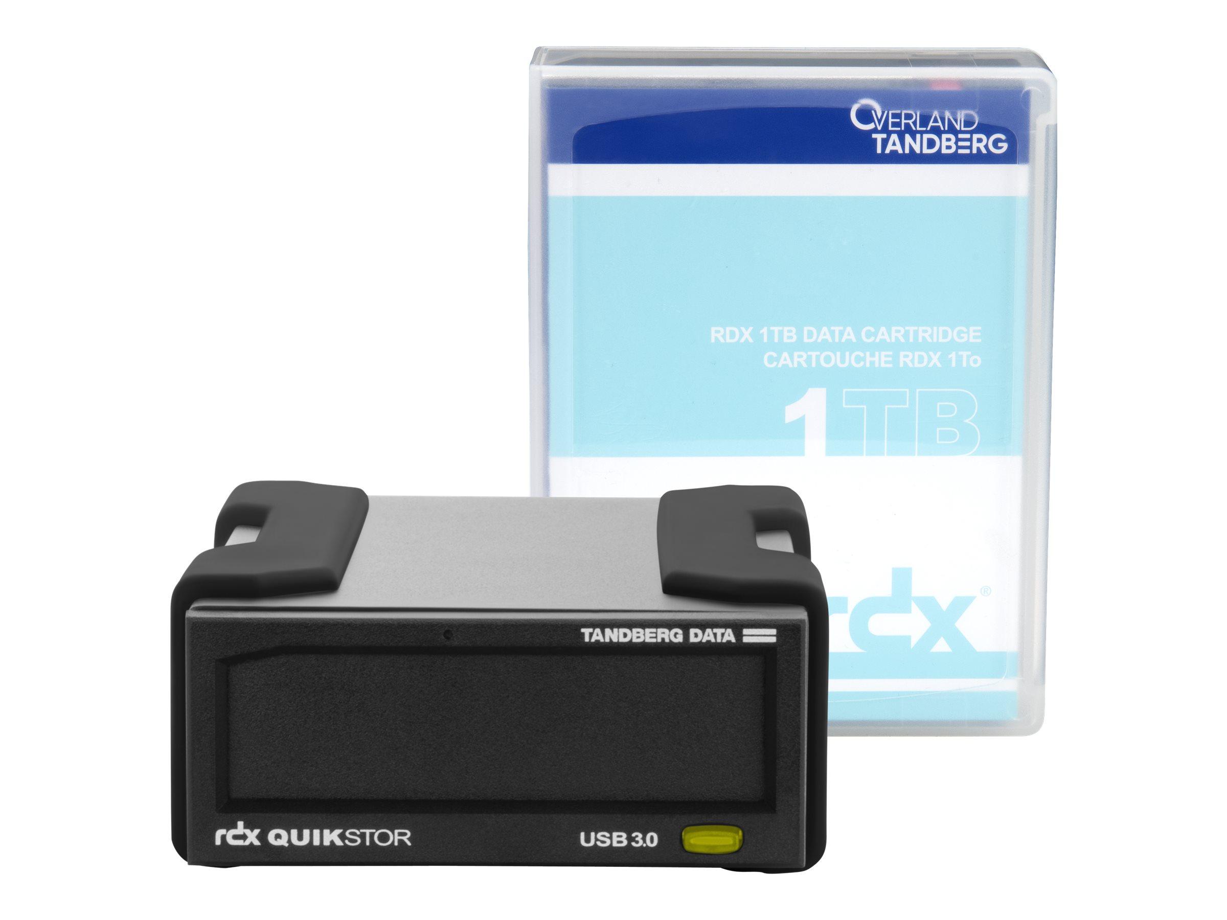 Overland Tandberg RDX QuikStor - Laufwerk - RDX - SuperSpeed USB 3.0 - extern - mit Kartusche mit 1 TB