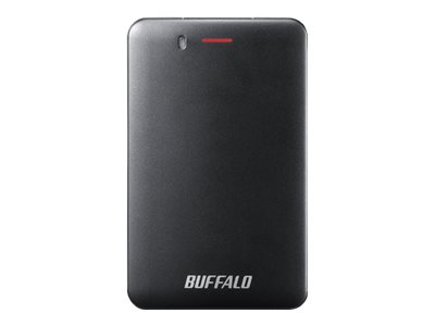BUFFALO MiniStation SSD-PMU3 - Solid-State-Disk - 240 GB - extern (tragbar) - USB 3.1 Gen 1 - Schwarz