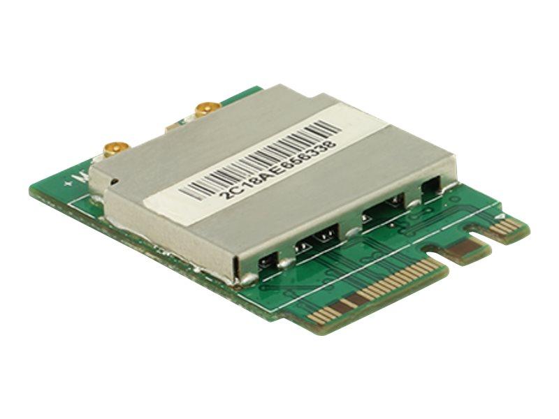 DeLock Module M.2 Key A+E male > WLAN 11ac/a/b/g/n + Bluetooth 4.0 - Netzwerkadapter - M.2 Card - Bluetooth 2.1, Bluetooth 3.0,