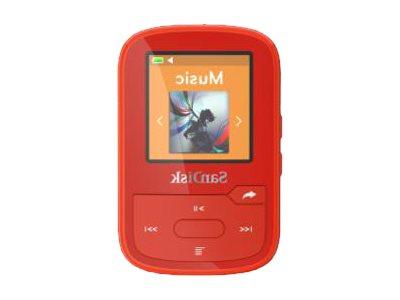 SanDisk Clip Sport Plus - Digital Player - 16 GB - Rot