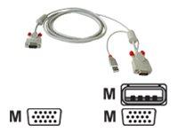 Lindy Combined KVM Cable - Video- / USB-Kabel - USB, HD-15 (VGA) (M) bis HD-15 (VGA) (M) - 1 m