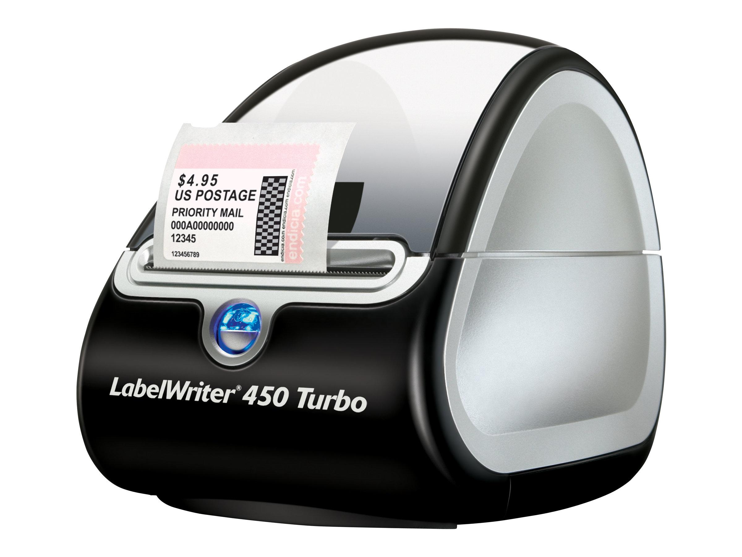 DYMO LabelWriter 450 Turbo - Etikettendrucker - Thermodirekt - Rolle (6,2 cm) - 600 x 300 dpi - bis zu 71 Etiketten/Min.