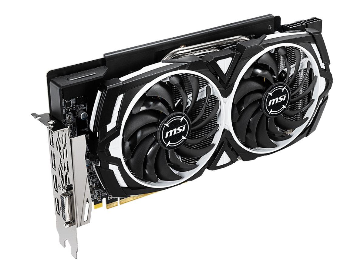MSI RX 590 ARMOR 8G OC - Grafikkarten - Radeon RX 590 - 8 GB GDDR5 - PCIe 3.0 x16 - DVI, 2 x HDMI, 2 x DisplayPort