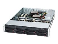 Supermicro SC825 TQC-R1K03LPB - Rack - einbaufähig - 2U - verbessertes, erweitertes ATX - SATA/SAS