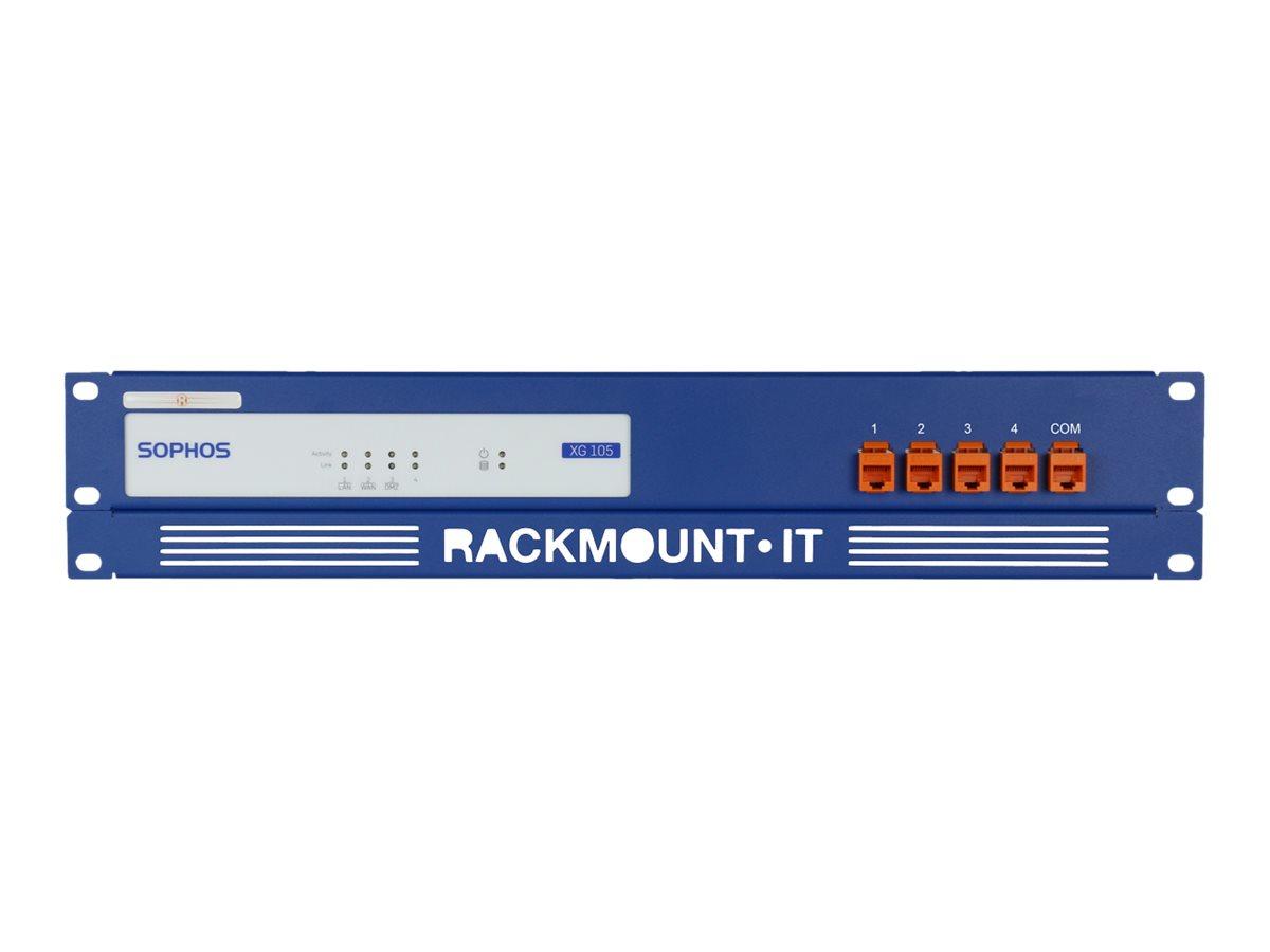 Rackmount.IT RM-SR-T1 - Netzwerk-Einrichtung - Rack montierbar - RAL 5010, Enzianblau - 1.3U - 48.3 cm (19