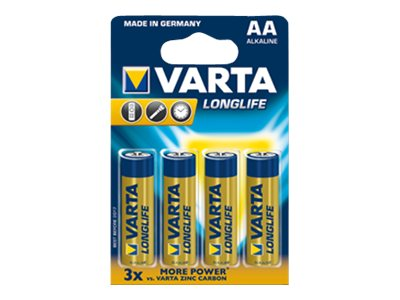 Varta Longlife Extra - Batterie 4 x AA-Typ - Alkalisch