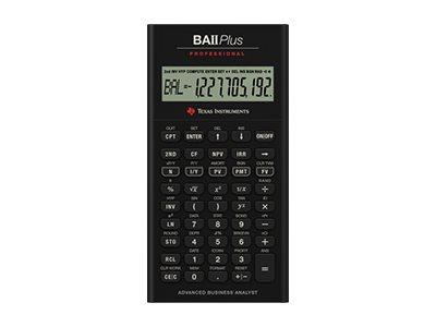 Texas Instruments BAII PLUS PROFESSIONAL - Finanz-Taschenrechner - 10 Stellen - Batterie