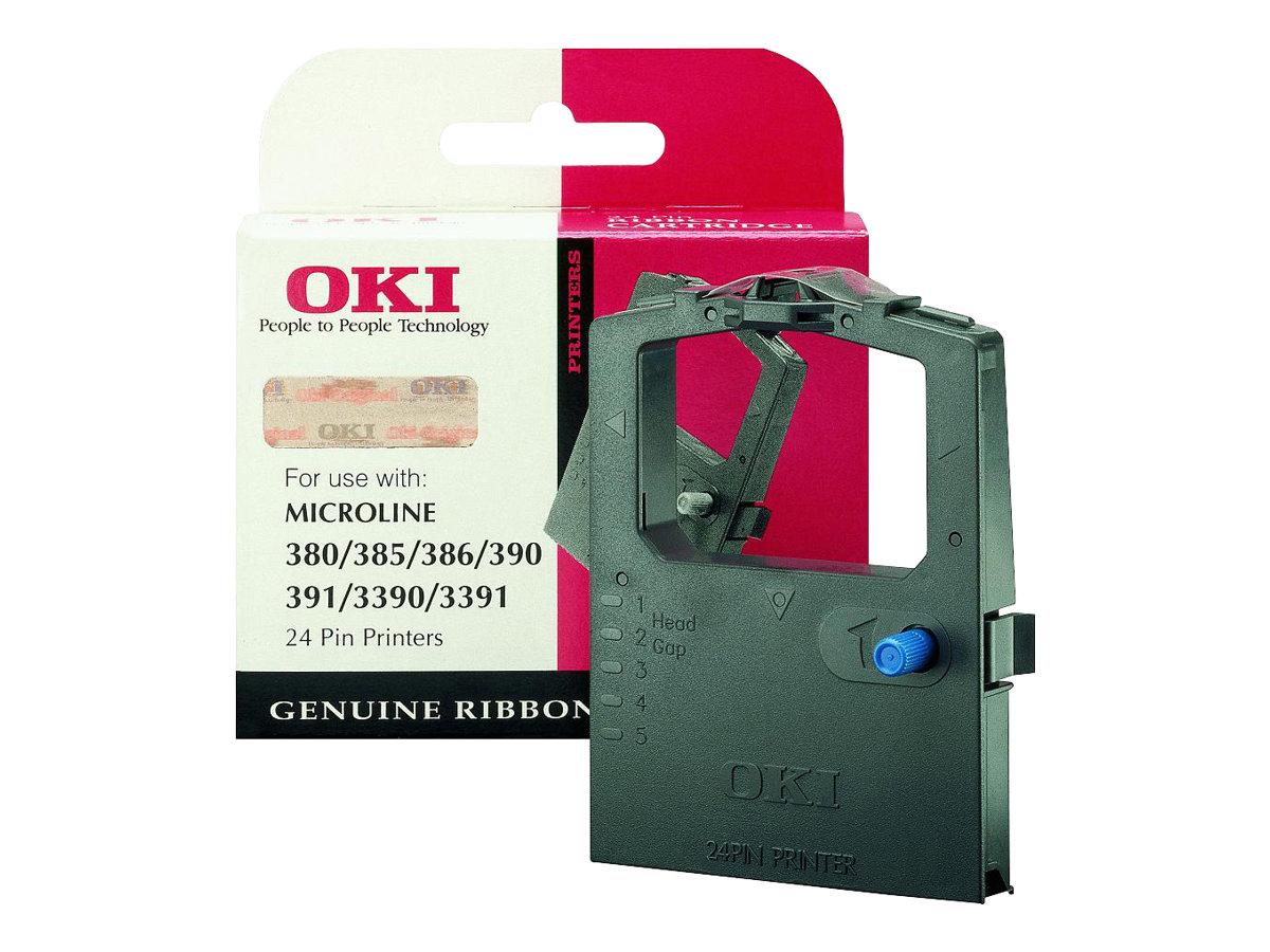 OKI - 1 - Schwarz - Farbband - für Microline 3390, 3391, 380, 385, 390, 390 Elite, 391