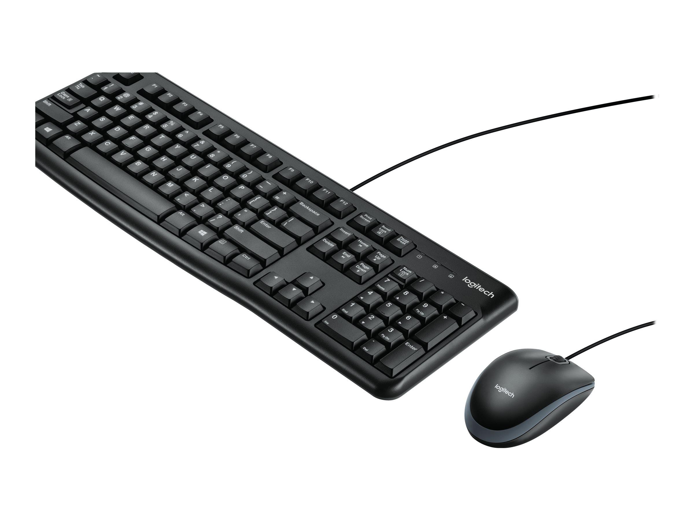Logitech Desktop MK120 - Tastatur-und-Maus-Set - USB - International NSEA