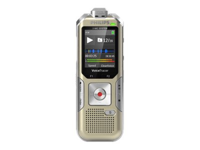 Philips Voice Tracer DVT6510 - Voicerecorder - 8 GB - Champagnerfarben, Silver Shadow