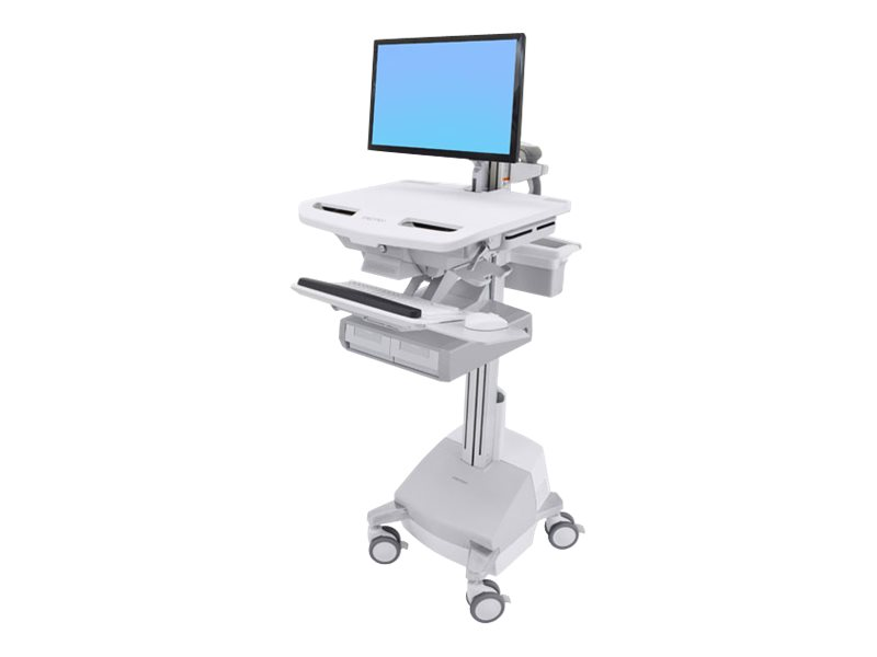 Ergotron Cart with LCD Arm, SLA Powered, 2 Drawers - Wagen für LCD-Display/Tastatur/Maus/CPU/Notebook/Barcodescanner (offene Arc