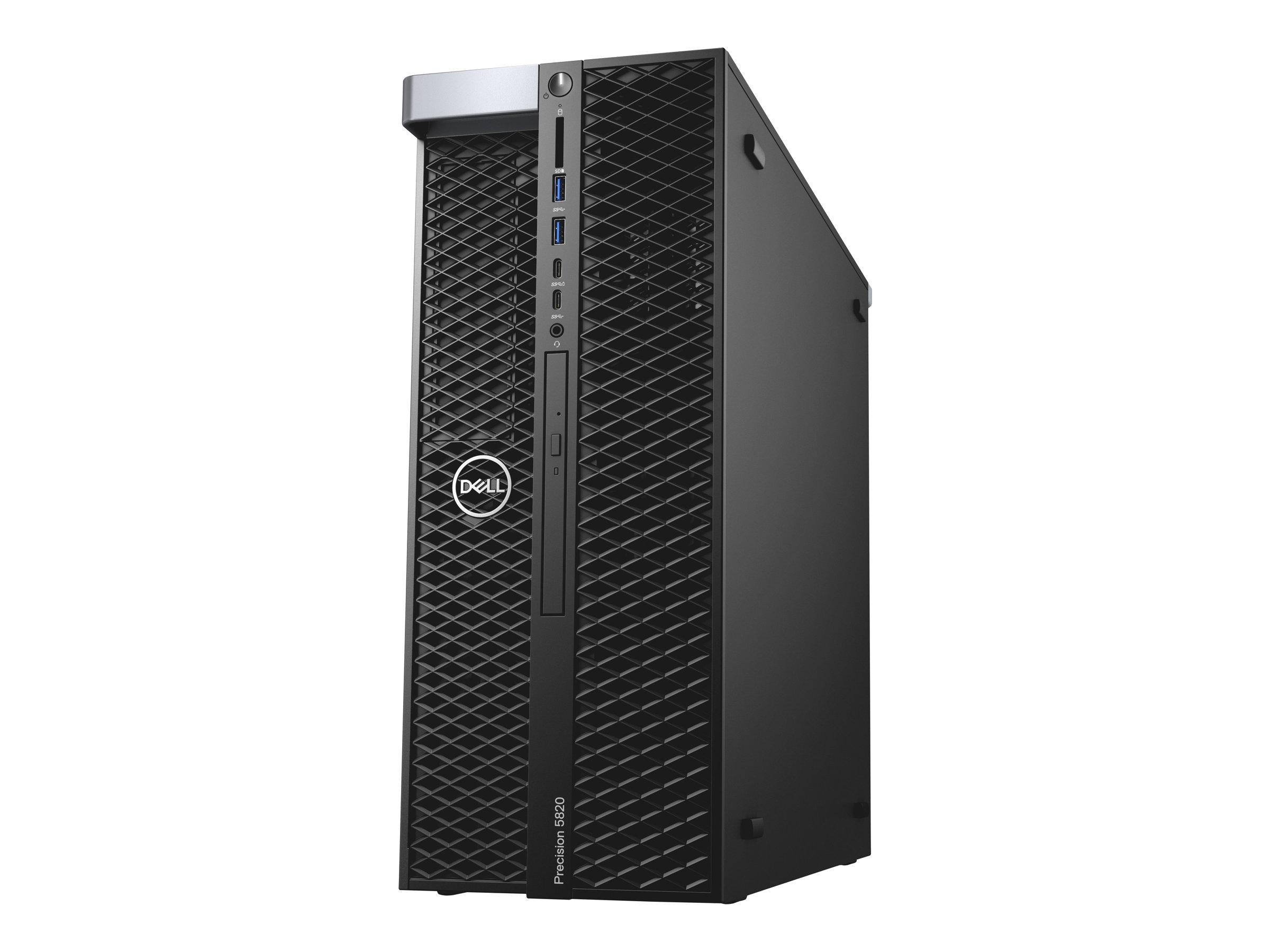 Dell Precision 5820 Tower - MDT - 1 x Core i9 9920X X-series / 3.5 GHz - RAM 16 GB - SSD 512 GB - DVD-Writer