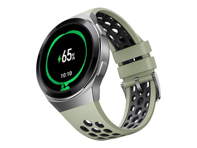 Huawei Watch GT 2e - Edelstahl - intelligente Uhr mit Riemen - TPU - Mint Green - Anzeige 3.5 cm (1.39
