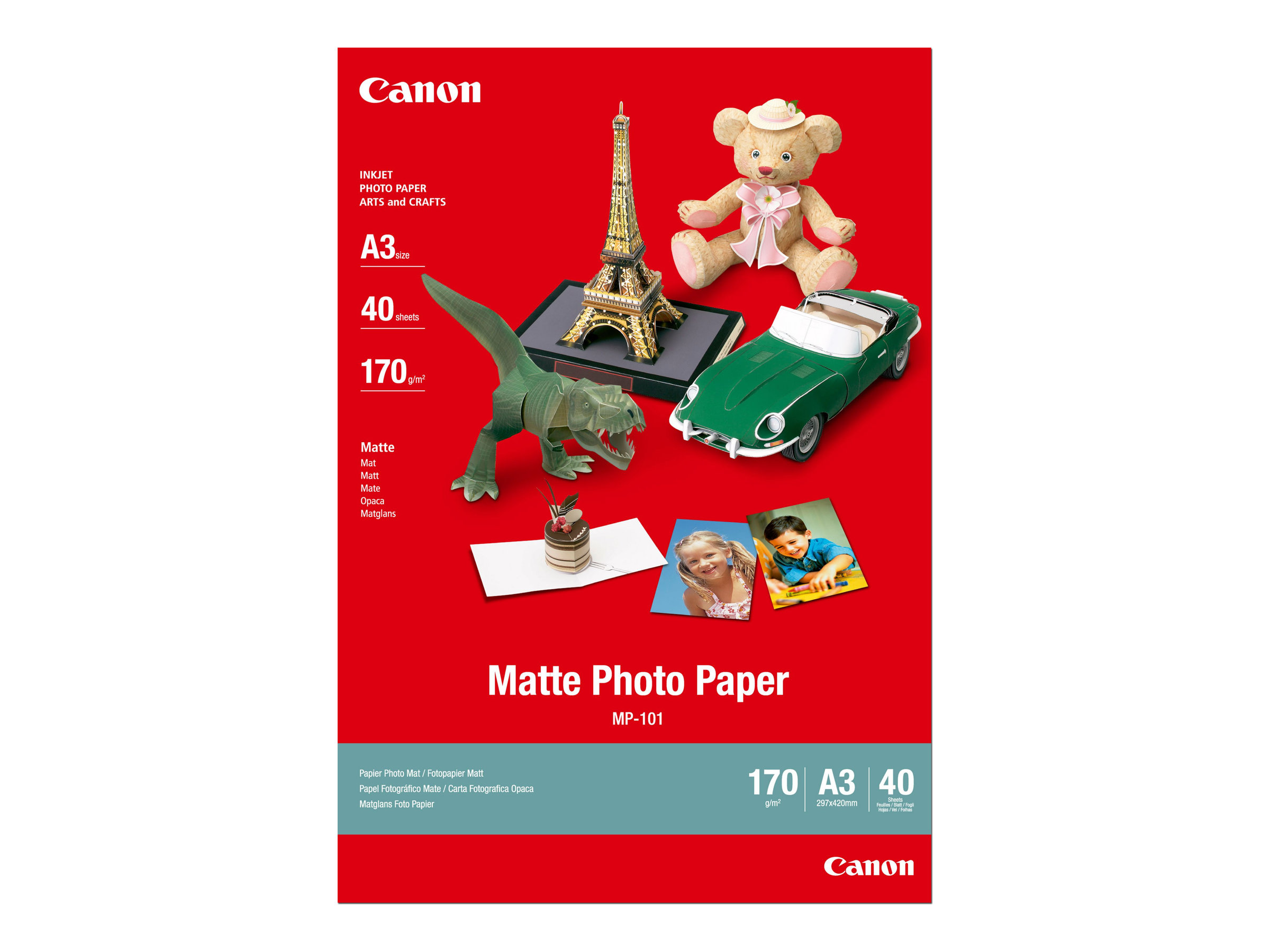 Canon MP-101 - A3 (297 x 420 mm) - 170 g/m² - 40 Blatt Fotopapier - für i6500, 9100, 9950; PIXMA iX7000; S6300, 9000