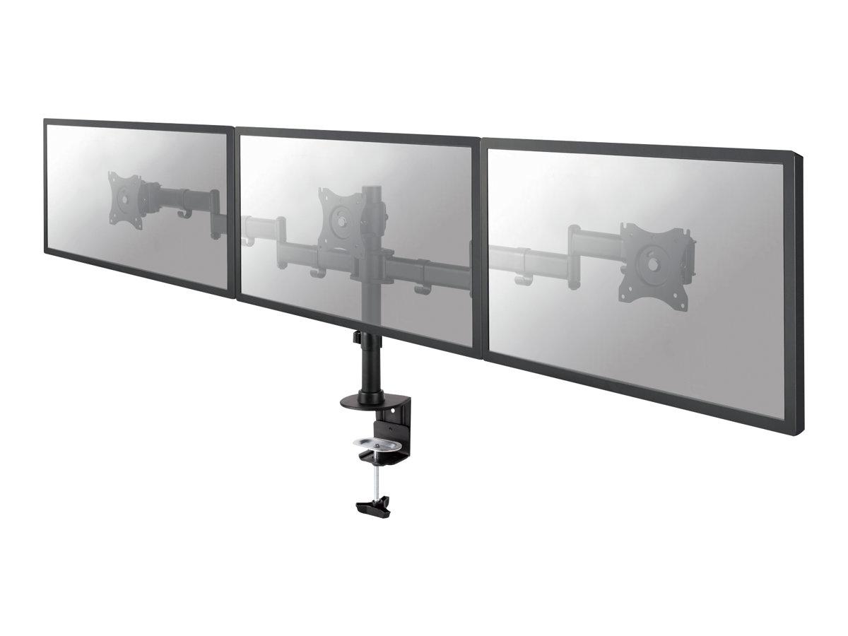 NewStar NeoMounts NM-D135D3BLACK - Tischhalterung für 3 LCD-Anzeigen - Schwarz - Bildschirmgrösse: 25.4-69 cm (10