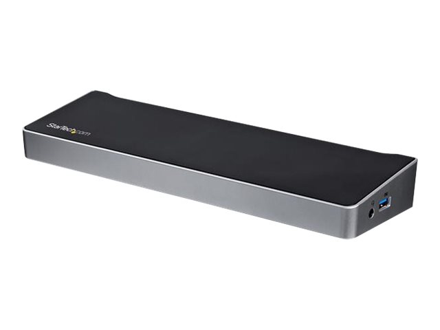 StarTech.com USB C Dockingstation - 60W Power Delivery (USB PD) - Windows / MacBook - Triple 4K - USB-C auf DP x 2 - USB C auf H