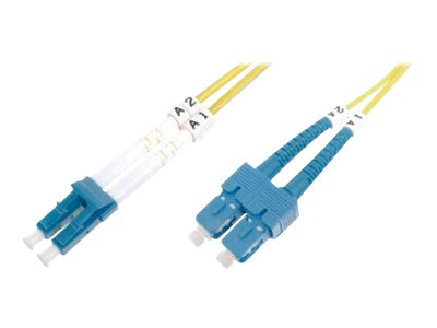 DIGITUS Professional - Patch-Kabel - SC/PC Einzelmodus (M) bis E2000/APC Einzelmodus (M) - 5 m - Glasfaser - 9/125 Mikrometer