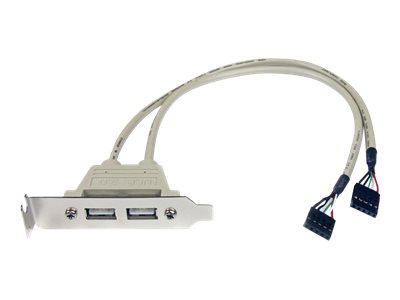 StarTech.com 2 Port USB 2.0 Low Profile Slotblech - Buchse - USB-Konsole - USB (W) bis Inline, 5-polig (W)