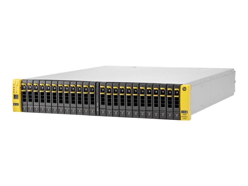 HPE 3PAR StoreServ 7200 2-node Storage Base - Festplatten-Array - 24 Schächte (SAS-2) - 8Gb Fibre Channel (extern) - Rack - einb