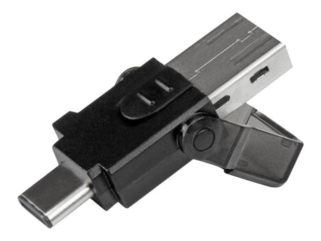 StarTech.com microSD auf USB 3.0 Kartenleser Adapter - für USB-C und USB-A fähige Computer - Kartenleser (microSD, microSDHC, mi