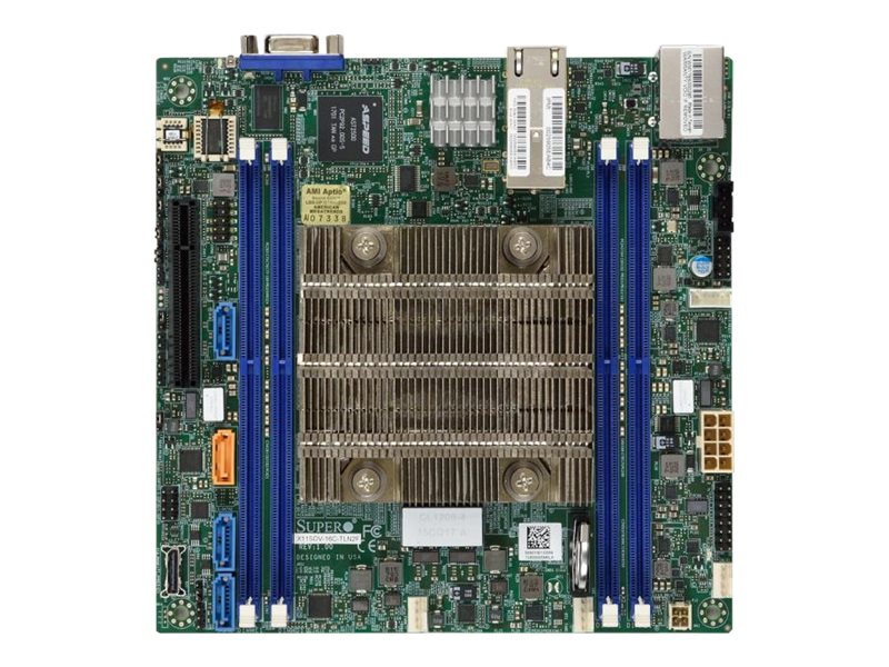 SUPERMICRO X11SDV-8C-TP8F - Motherboard - FlexATX - Intel Xeon D-2146NT - USB 3.0 - 4 x Gigabit LAN, 4 x 10 Gigabit LAN
