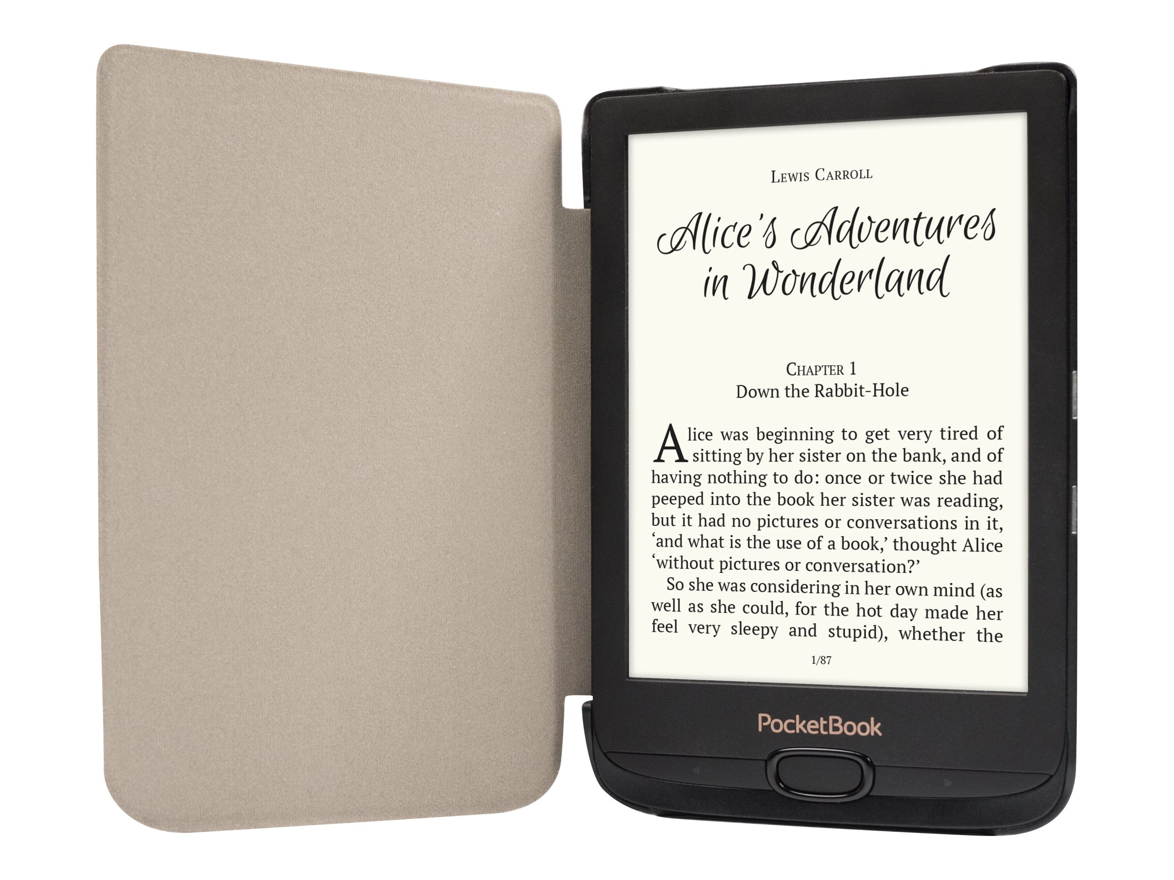 PocketBook Shell series - Flip-Hülle für eBook-Reader - Kunststoff, Polyurethan, Microfiber - Rot - für PocketBook Basic Lux 2,