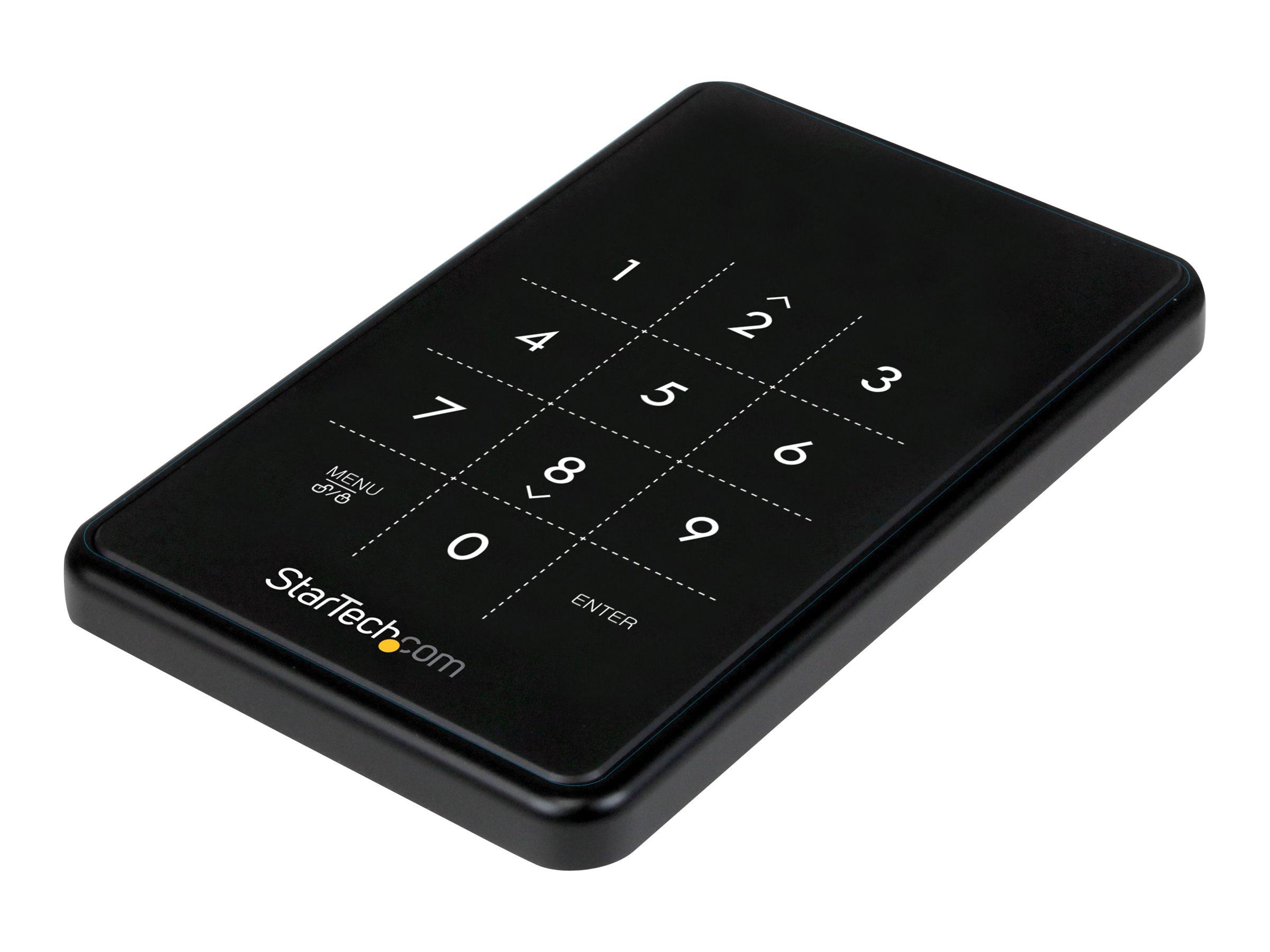 StarTech.com Verschlüsseltes externes USB 3.0 SATA III Festplattengehäuse - 2,5 HDD / SSD Gehäuse mit 256-bit Encryption - Speic