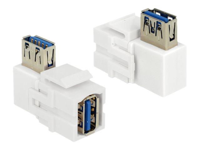 DeLOCK Keystone module - Modularer Einschub (Kopplung) - USB 3.0 Type A - weiss