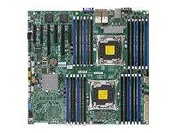 SUPERMICRO X10DRI-LN4+ - Motherboard - verbessertes, erweitertes ATX - LGA2011-v3-Sockel - 2 Unterstützte CPUs - C612