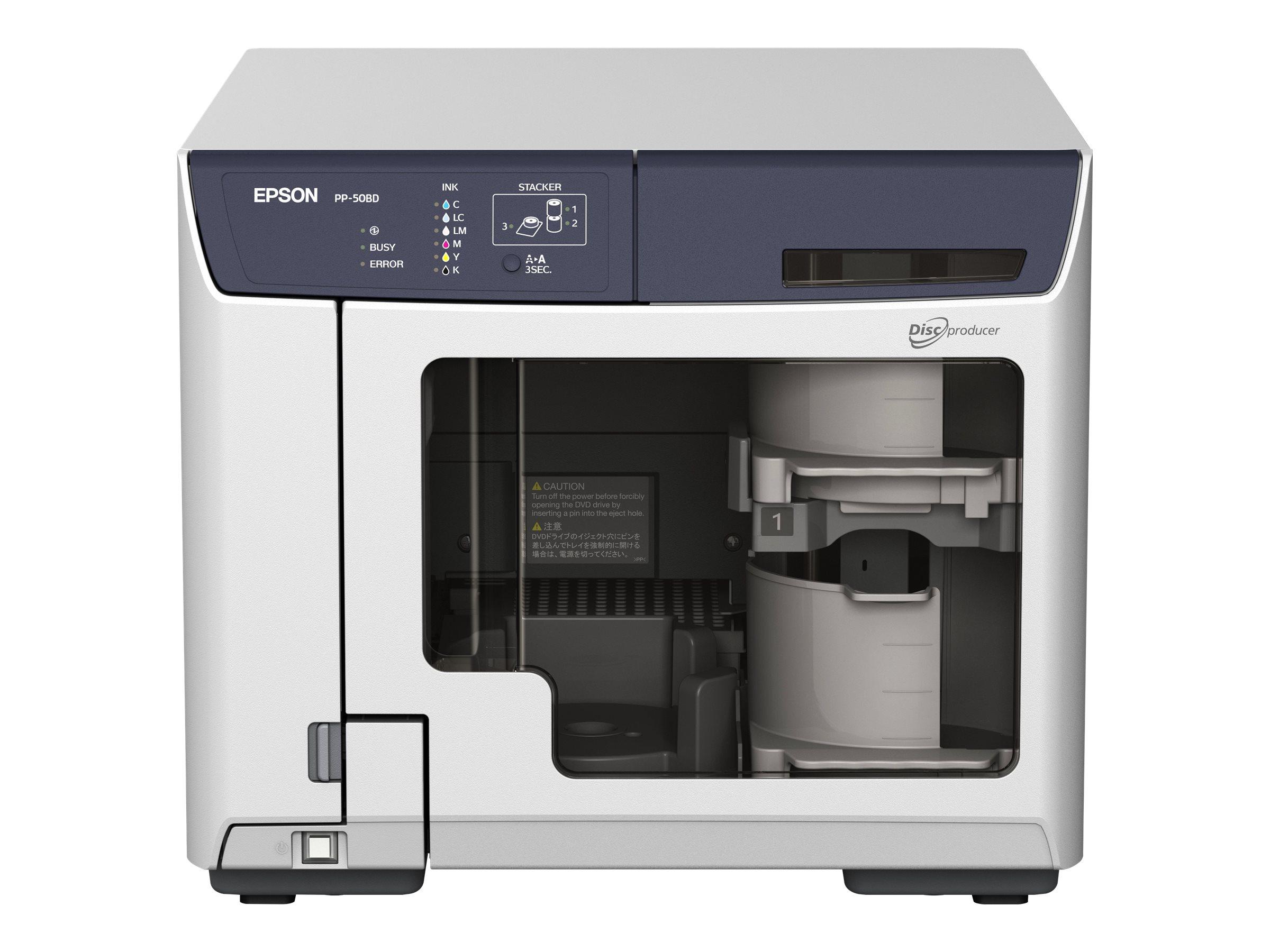 Epson Discproducer PP-50BD - Disk-Kopiergerät - Steckplätze: 50 - BD-RE x 1 - USB 2.0 - extern