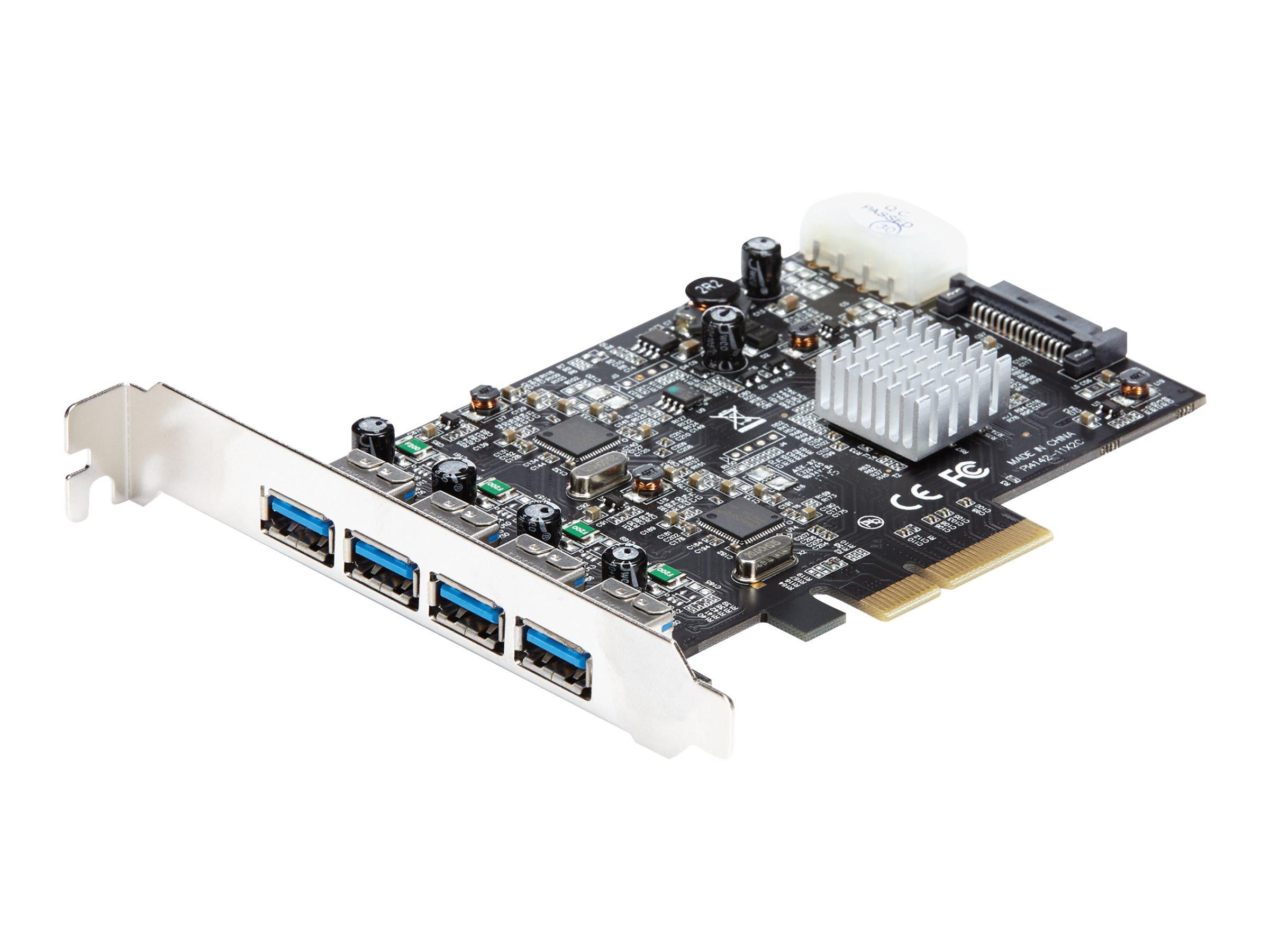 StarTech.com 4 Port USB 3.1 (10Gbit/s) Karte - 4x USB-A mit zwei dedizierten 10Gbit/s Kanälen - PCIe - USB3.1 Karte - USB-Adapte