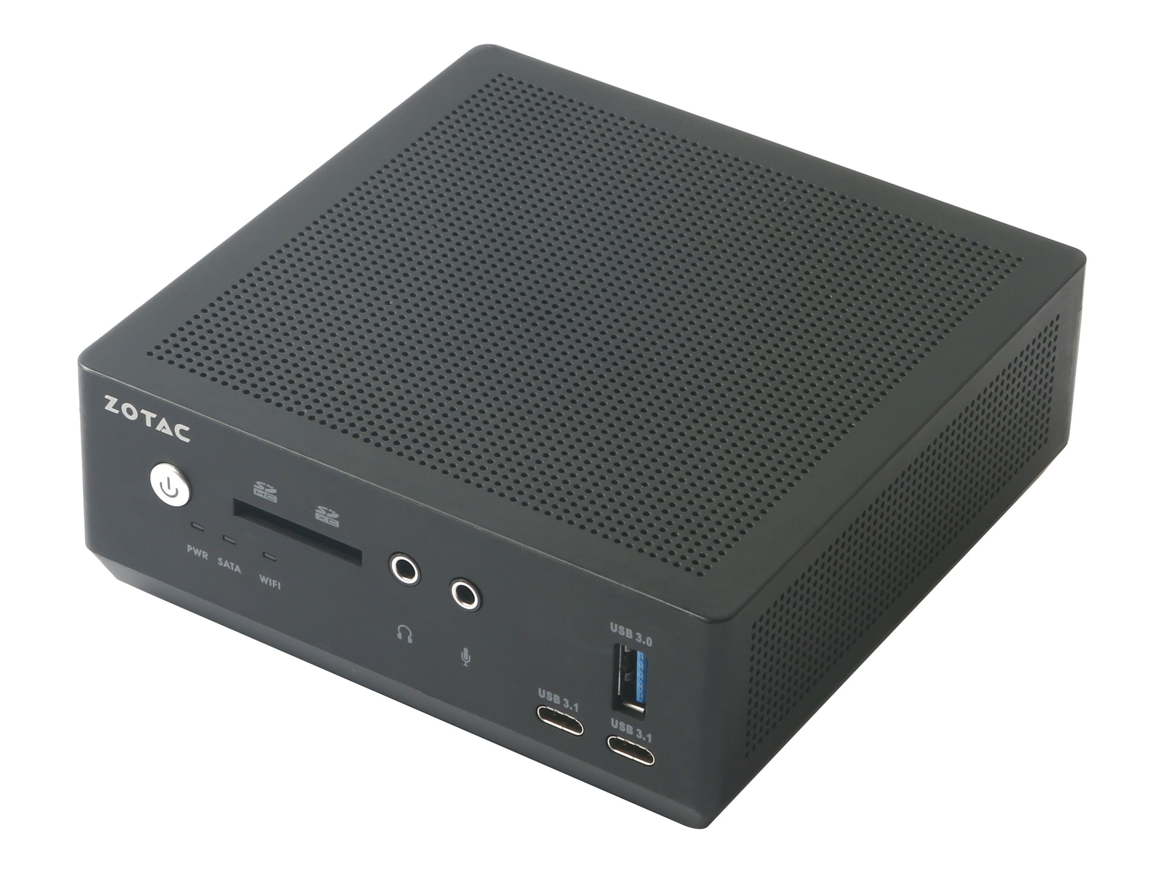 ZOTAC ZBOX M Series MI640 nano - Barebone - Mini-PC - 1 x Core i5 8250U / 1.6 GHz - UHD Graphics 620 - GigE