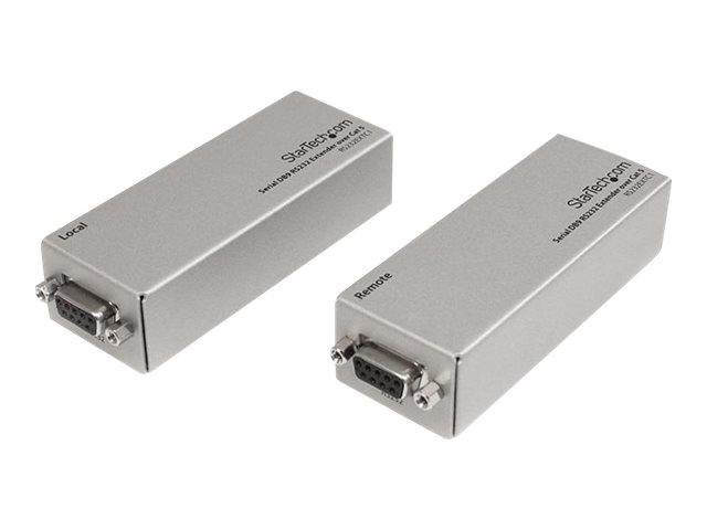 StarTech.com Serieller DB9 RS232-Extender über Cat5 - Bis zu 1000 Meter - Serielle Anschlusserweiterung - bis zu 1 km