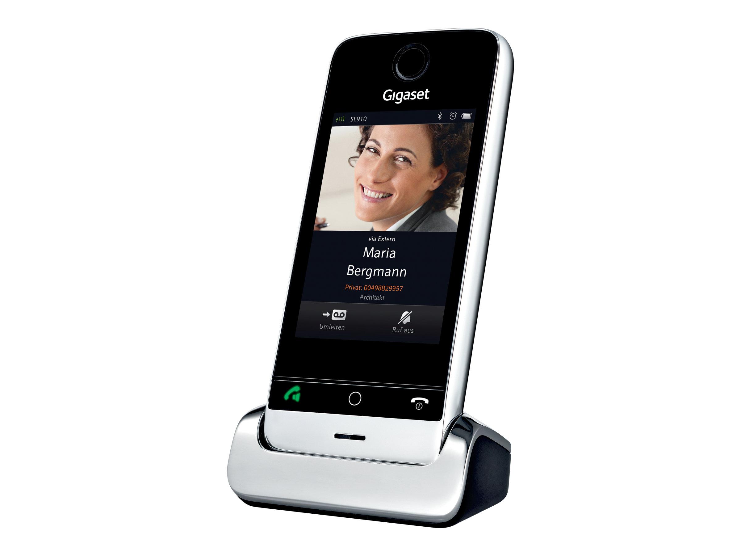 Gigaset SL910H - Schnurloses Erweiterungshandgerät - Bluetooth-Schnittstelle mit Rufnummernanzeige - DECT\GAP - Piano Black, Met