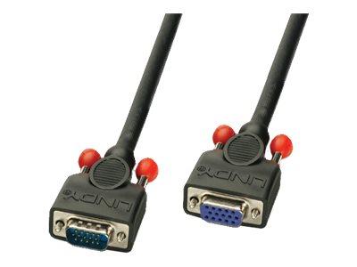 Lindy Daisy Chain - Tastatur-/Video-/Maus (KVM)-Verlängerungskabel - HD-15 (VGA) (M) bis HD-15 (VGA) (W) - 2 m - Daumenschrauben