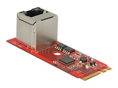 DeLock Converter M.2 Key A+E male > 1 x Gigabit LAN vertical - Netzwerkadapter - M.2 Card - Gigabit Ethernet x 1