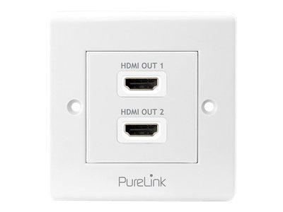 Purelink PureInstall PI105 - Befestigungsplatte - HDMI X 2 - weiss - Abdeckung mit einer Aussparung