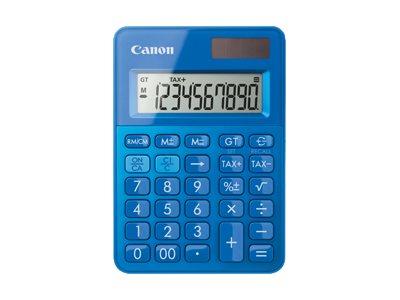 Canon LS-100K - Desktop-Taschenrechner - 10 Stellen - Solarpanel, Batterie - Metallisch Blau