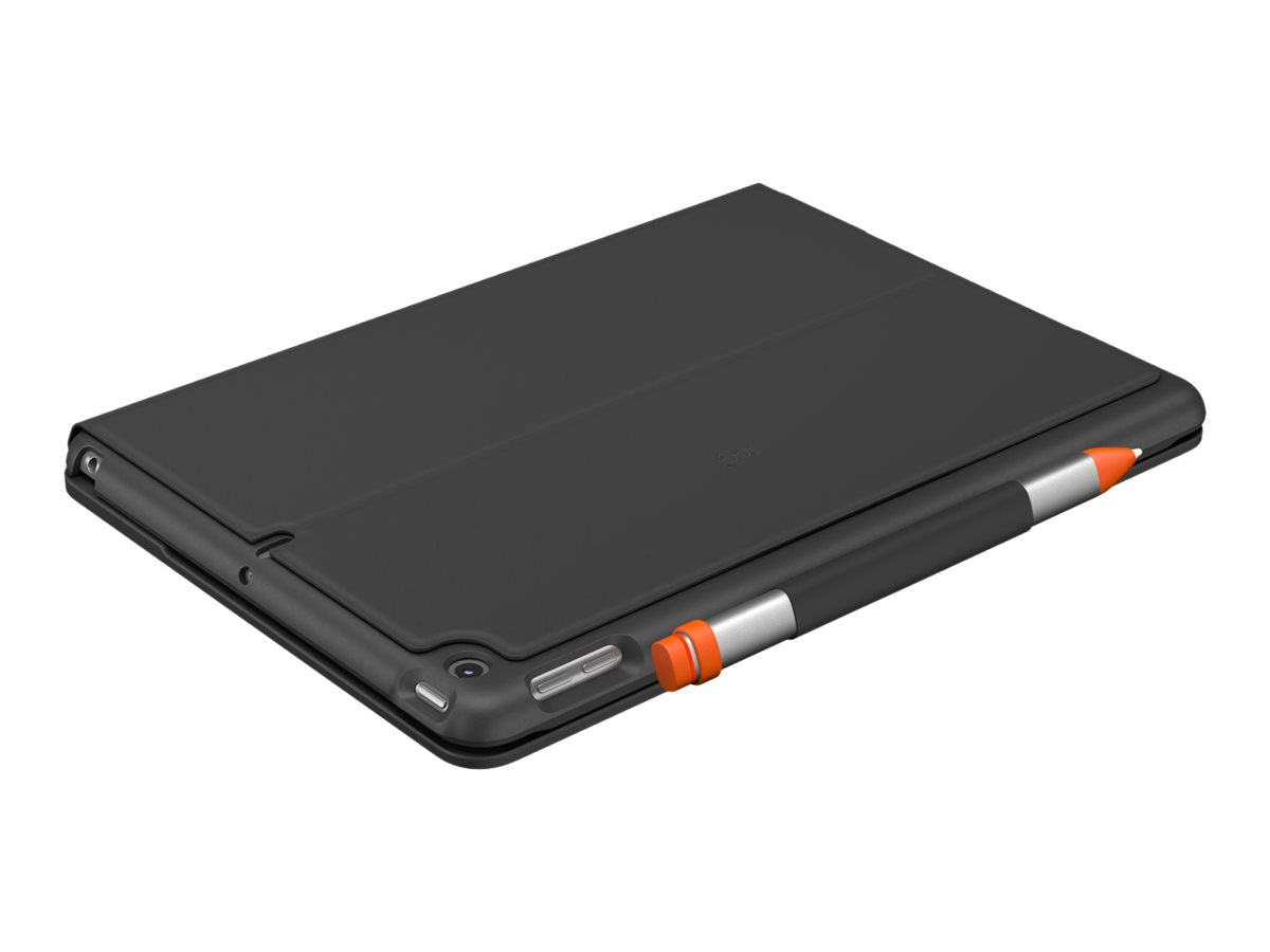 Logitech Slim Folio - Tastatur und Foliohülle - Bluetooth - QWERTZ - Deutsch - Graphite