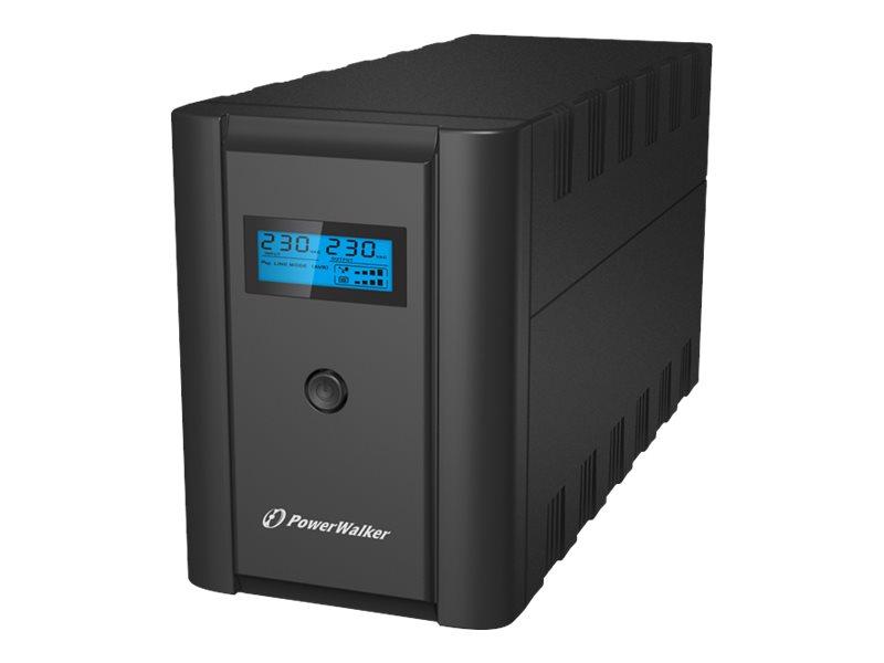PowerWalker VI 2200 LCD - USV - Wechselstrom 230 V - 1200 Watt - 2200 VA 9 Ah - USB