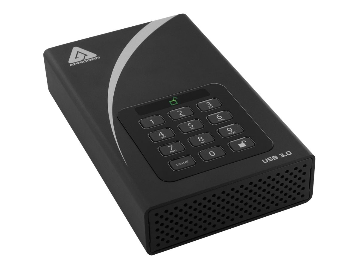 Apricorn Aegis Padlock DT ADT-3PL256-12TB - Festplatte - verschlüsselt - 12 TB - extern (Stationär) - 3.5