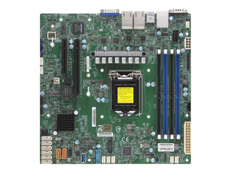 SUPERMICRO X11SCH-LN4F - Motherboard - micro ATX - LGA1151 Socket - C246 - USB 3.1 Gen 1, USB 3.1 Gen 2